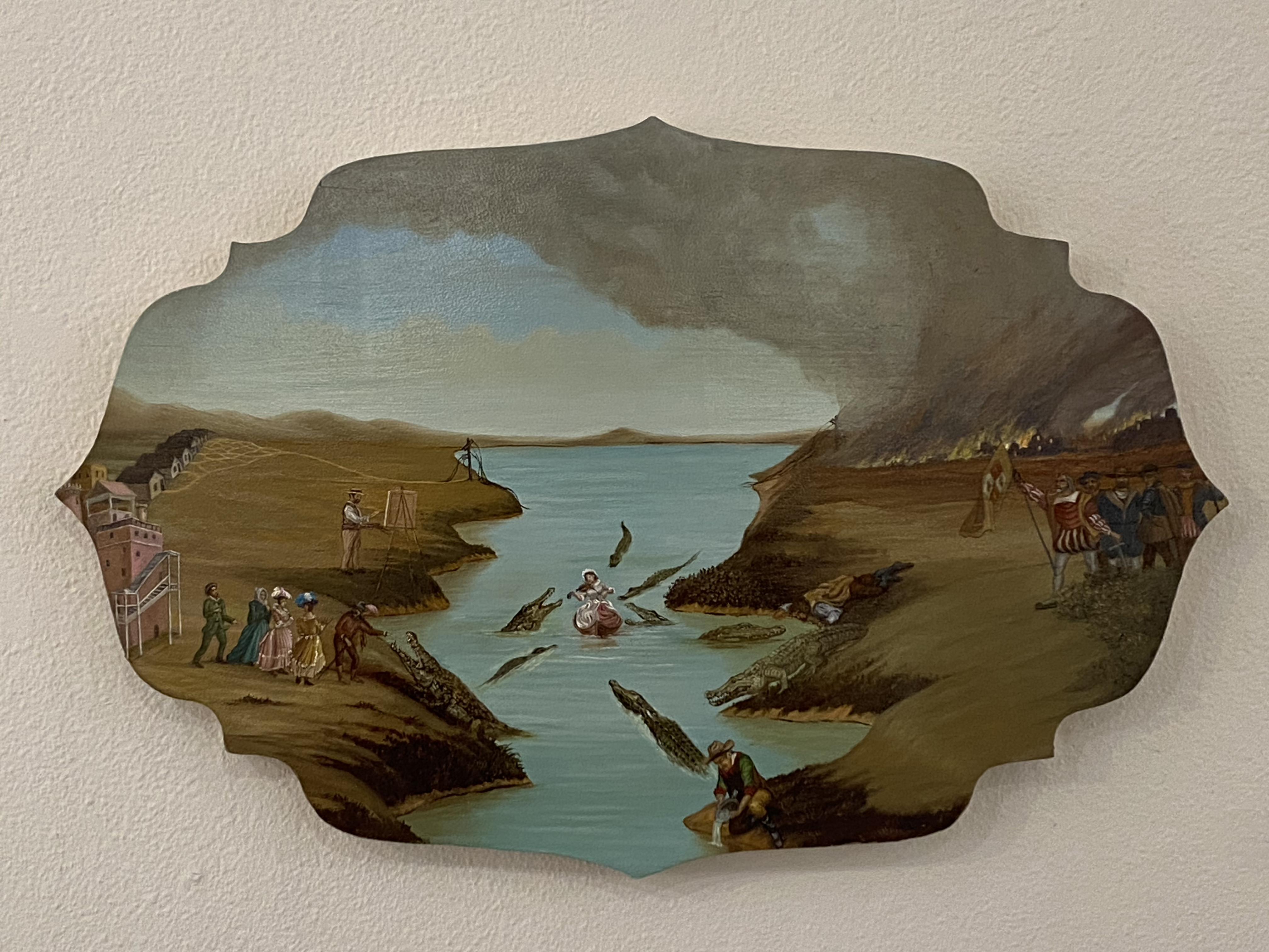 """Crocodile Tears"" 16x20 inches oil on wood"